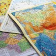 Stock Photo: Geographical maps. The student's life.
