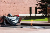 Eternal flame monument near red square in Moscow — Stock Photo