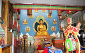 In the Buddhist temple — Stock Photo
