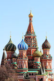 A historical landmark - St. Basil's Cathedral in Moscow — Stock Photo
