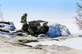Lake Baikal melts in the spring after a harsh winter — Stock Photo