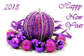 New year's purple postcard1 — Stock Photo