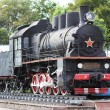 Old locomotive today - the monument — Stock Photo