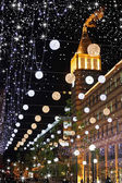 City in expectant of holiday — Stock Photo