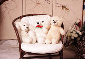 Three white bear — Stock Photo