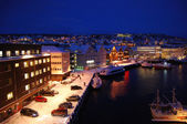 Tromso at night — Foto Stock