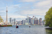 View of Toronto from the bay — Stock Photo