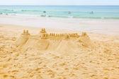 Sand castle — Stock Photo