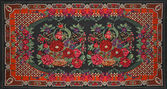 Teppich mit floral ornament — Stockfoto