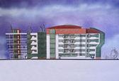 Multistory building — 图库照片