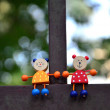 Two tiny little creatures on tube — Stock Photo #30566279