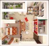 Layout apartment  — Stock Photo