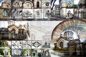 Collage - a church  — Stock Photo