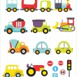 Lovely transport set — Stock Vector #23851717