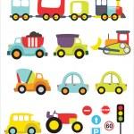 Lovely transport set — Stock Vector #23851717