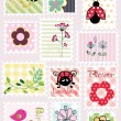 Lovely nature stamps — Stock Vector #25839695