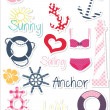 Summer set of stickers — Stock Vector #25839697