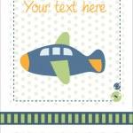 Baby boy announcement card — Stock Vector