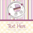 Baby girl announcement card — Stock Vector #28006905