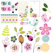 Floral set — Stock Vector