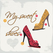 My sweet shoes — Stock Vector