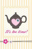 Tea card — Stock Vector