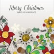 Christmas floral card — Stock Vector #33638985