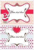Love invitation set — Vettoriale Stock