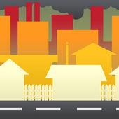 城市污染 — 图库矢量图片
