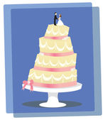 Vanilla Wedding Cake — Stock Vector