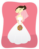 Bride — Stock Vector