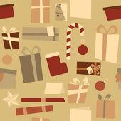 Navidad decoraciones de patrones sin fisuras — Vector de stock