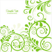 Backbackground in green with space for text — Stock Vector