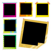 Colored picture frame — Stock Vector