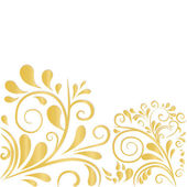 Background in white and gold — Stock Vector