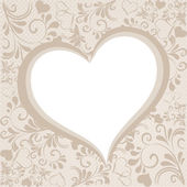 Background in beige with hearts — Stock Vector