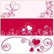Royalty-Free Stock Vector: Set with 3 backgrounds in red