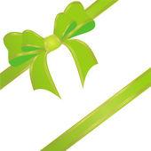 Zielona wstążka — Wektor stockowy