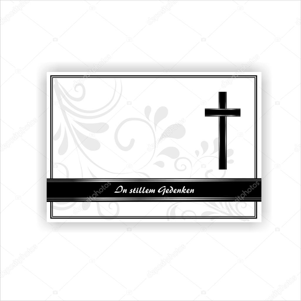 Tarjeta de condolencias — Vector de stock © lienchen020-2 #23686833