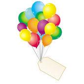 Colourful ballons — Stock Vector