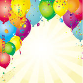 Background with ballons — Stock Vector