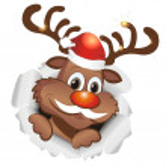 Funny reindeer — Stock Vector #33964541