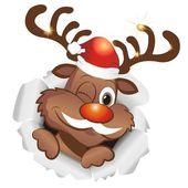 Funny reindeer — Vettoriale Stock