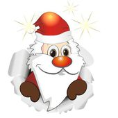 Funny reindeer and Santa Claus — Stockvector