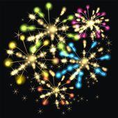 Fuoco d'artificio bella vettoriale — Vettoriale Stock