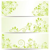 Set of three banner with ornaments — Stock Vector