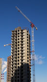 Multi-storey house under construction — Stock Photo