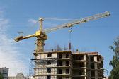 Building under construction with concrete tiles — ストック写真