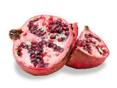 Two ripe pomegranate, isolated  — Foto Stock