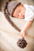 Newborn baby boy sleeping — Stock Photo